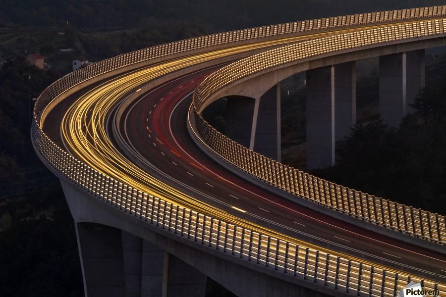 Viadukt AŒrni Kal by Jaka Ivancic   Print