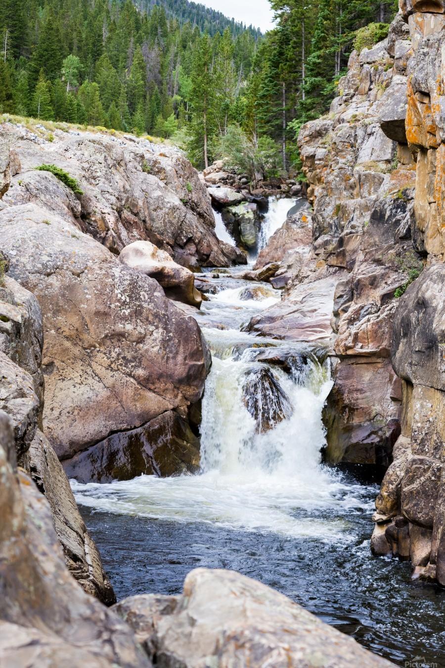 Colorado Waterfall  -  Poudre River   Print