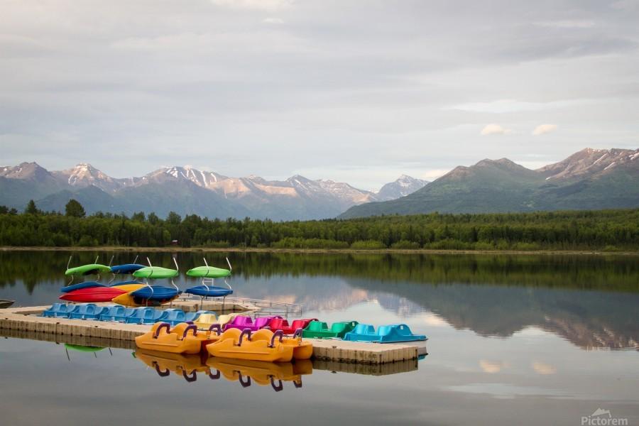 Alaska Lake and Sporting  Print