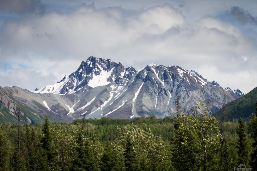 Alaska Mountain Range  Print