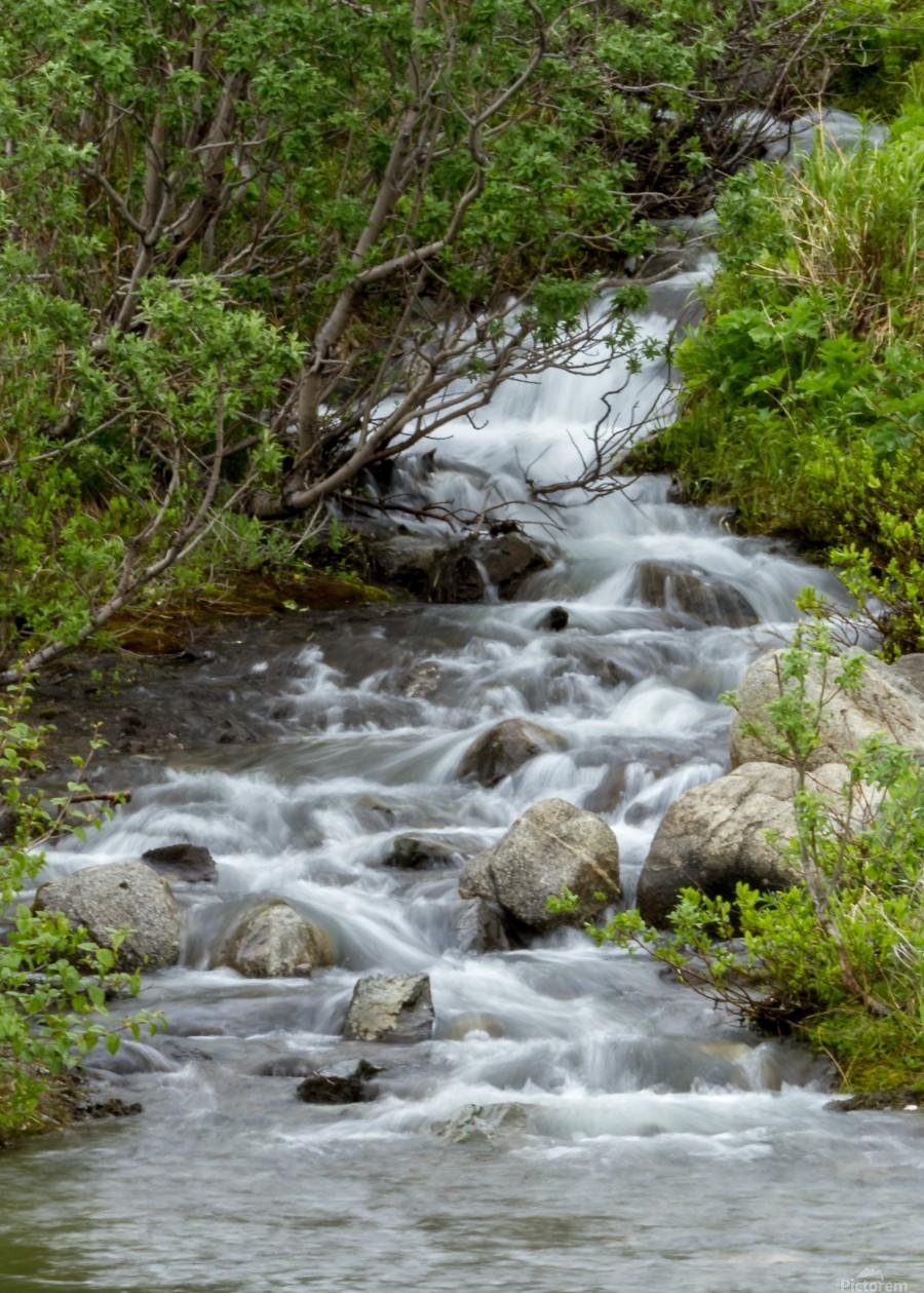 Beautiful Waterfall Picture in Alaska  Print