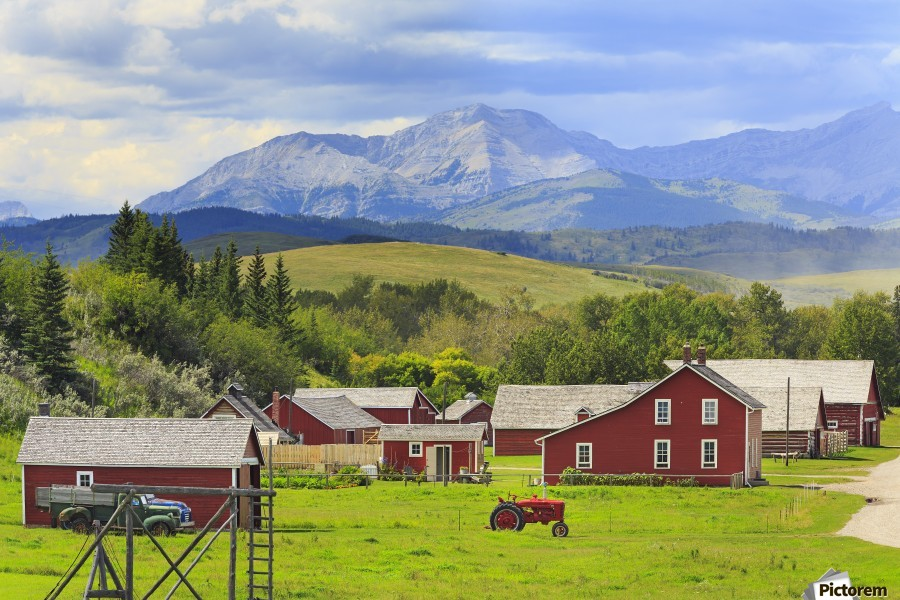 Bar U Ranch National Historic Site; Longview, Alberta, Canada  Print