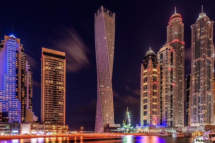 Dubai Marina Night Shot  Print
