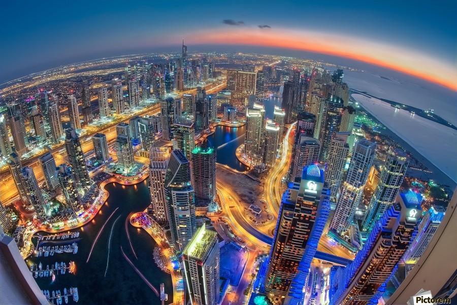 Dubai Colors of Night  Print
