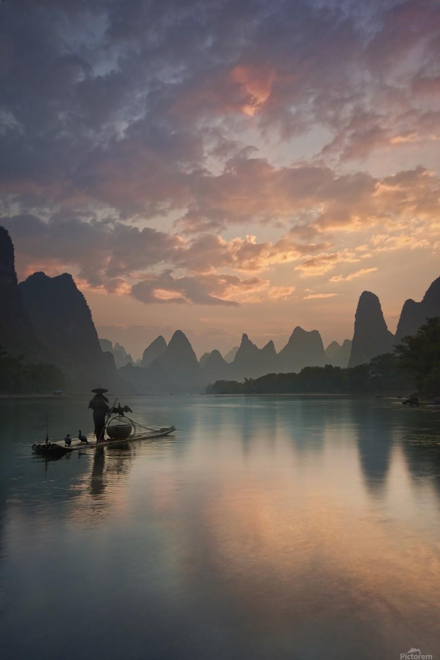 Li River Sunrise  Print