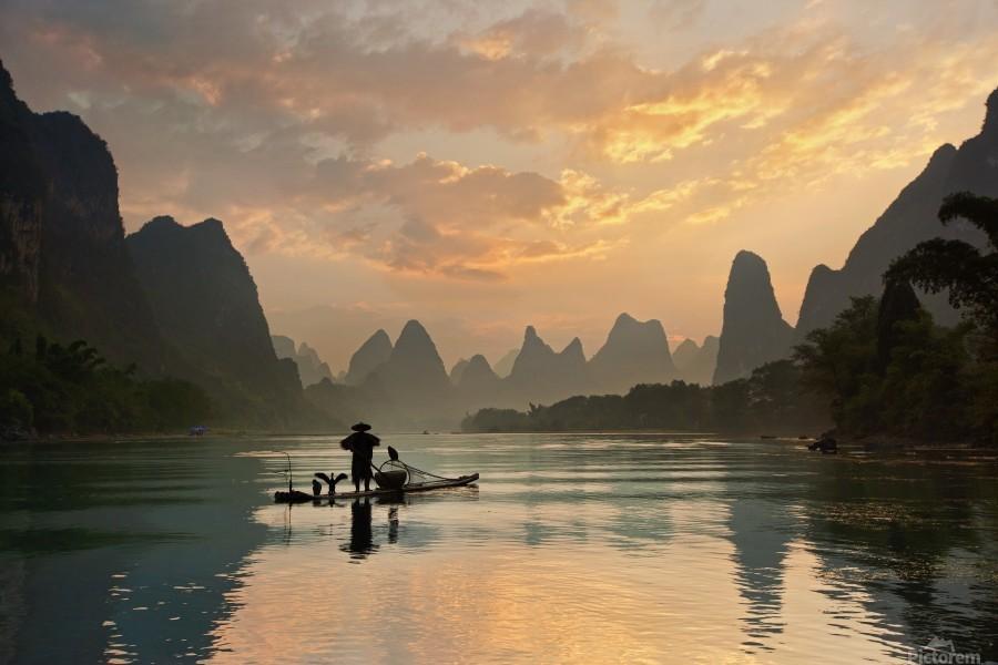 Golden Li River  Print