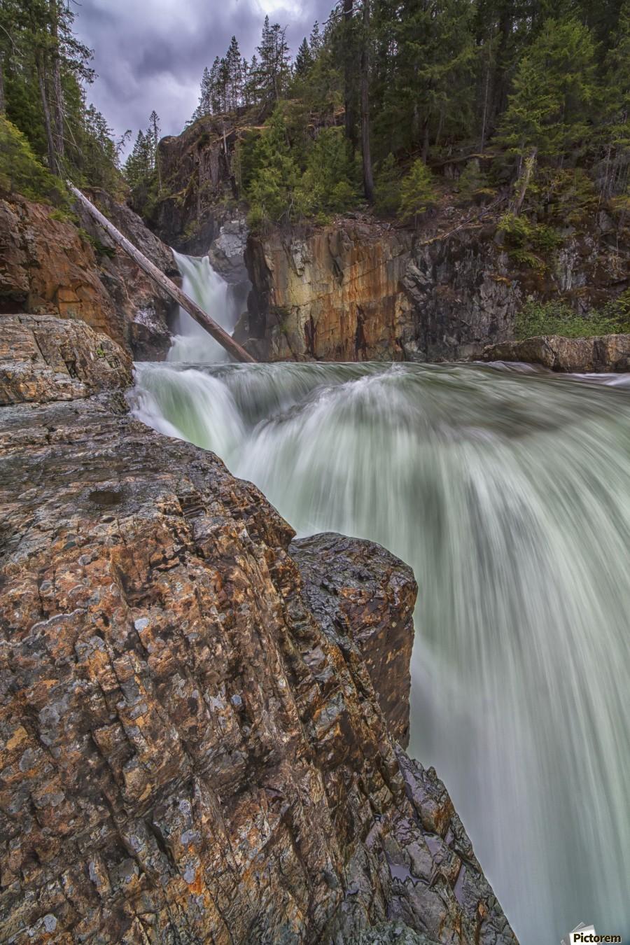 Myra Falls, Strathcona Provincial park; British Columbia, Canada  Print