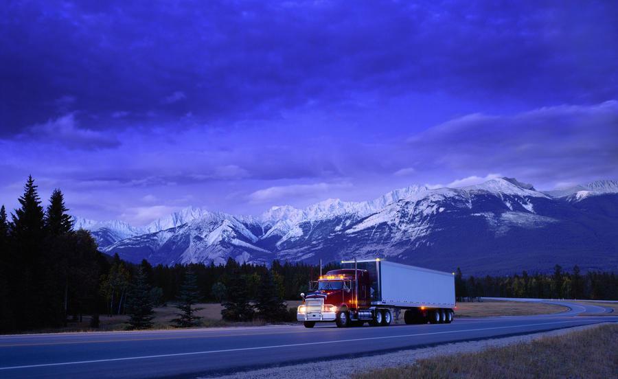 Semi-Trailer Truck  Print