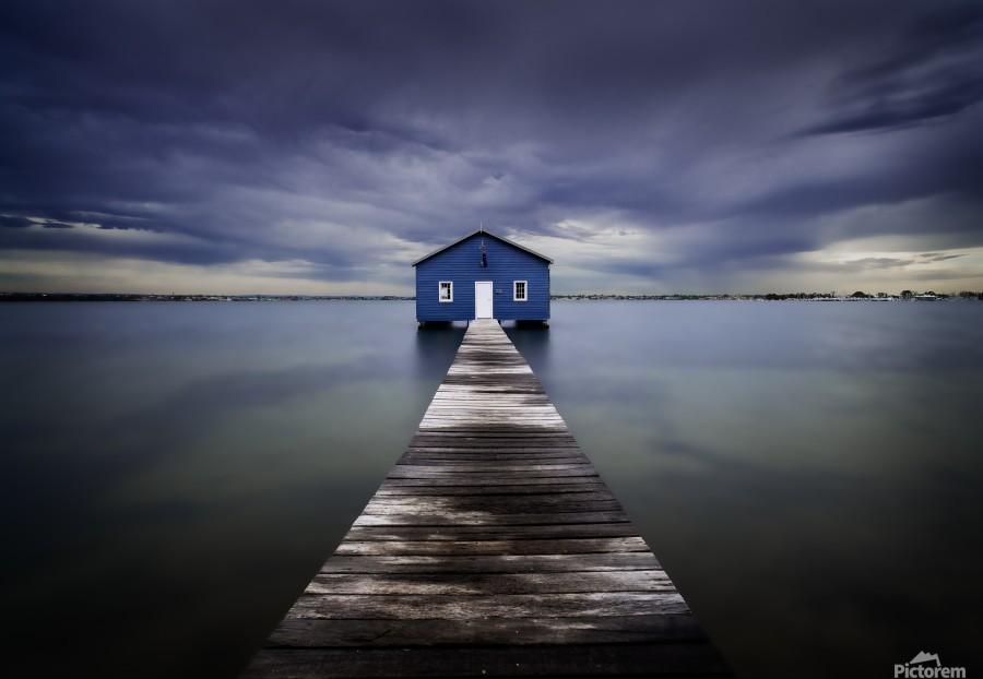 The Blue Boatshed  Print