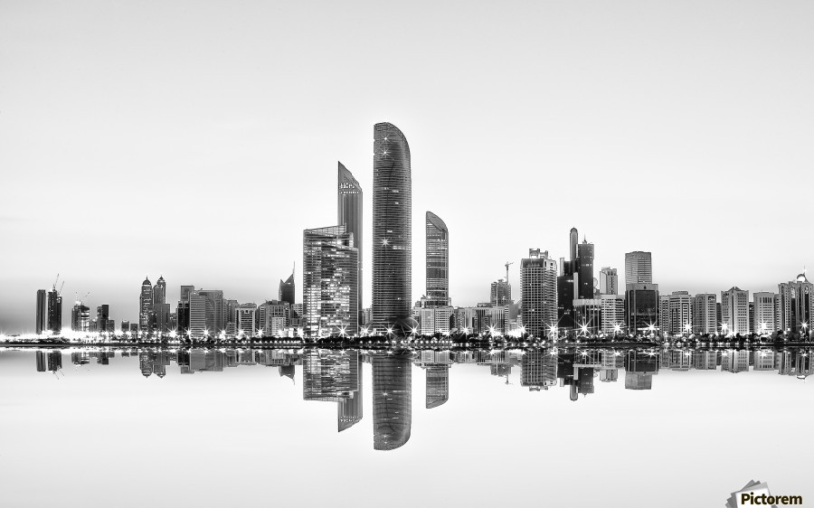 Abu Dhabi Urban Reflection  Print