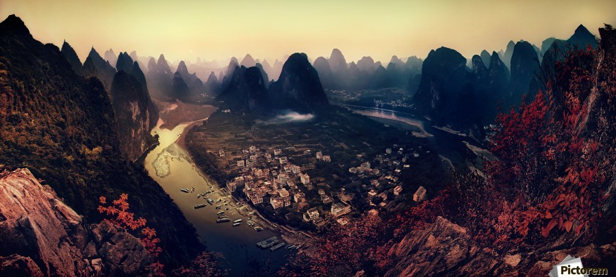The Karst Mountains of Guangxi  Print