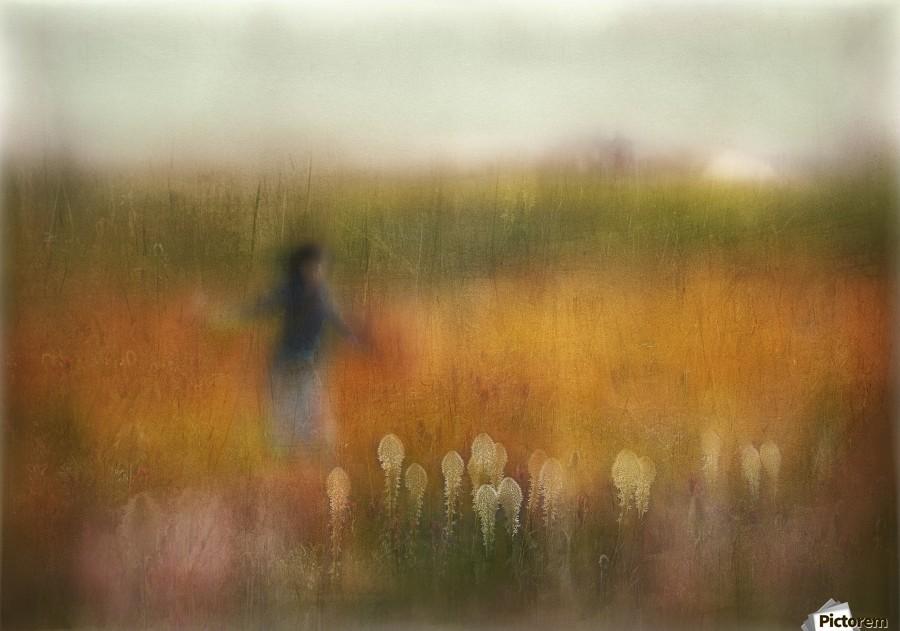 A Girl and Bear grass  Print