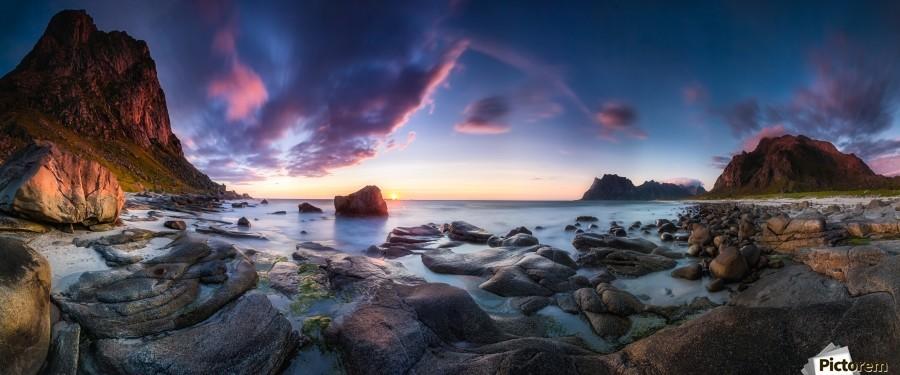 Utakleiv sunset  Print