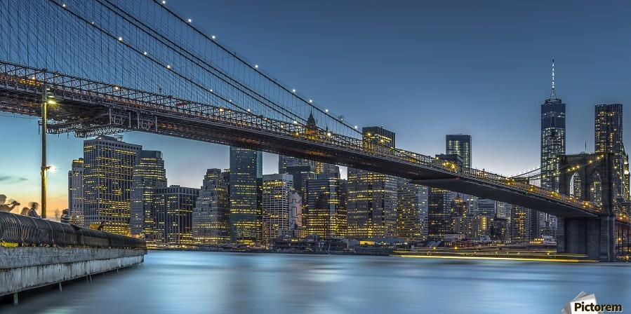 New York - Blue Hour over Manhattan  Print