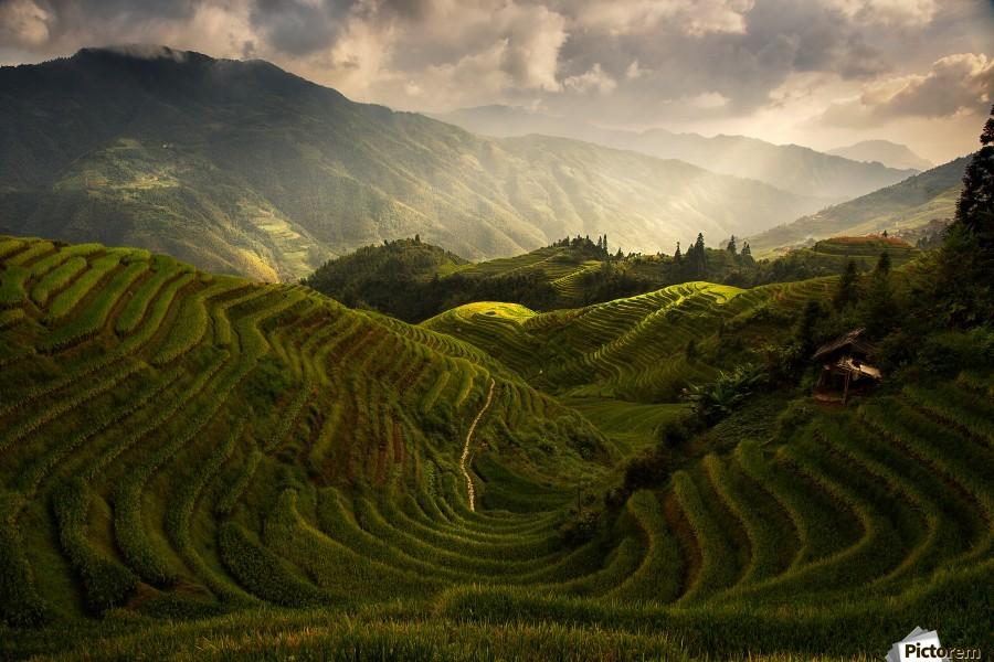 A Tuscan Feel in China  Print