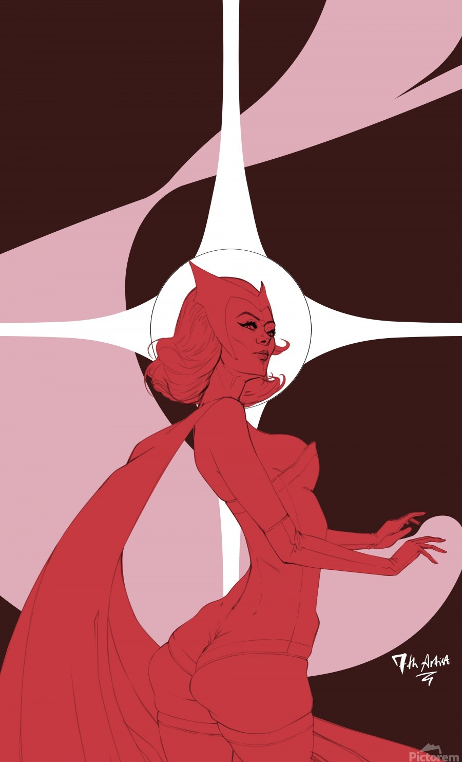Scarlet Witch Flats  Print
