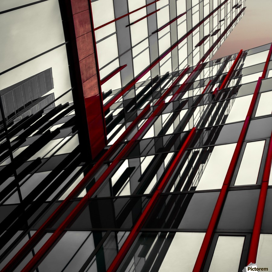 red lines by Gilbert Claes   Print