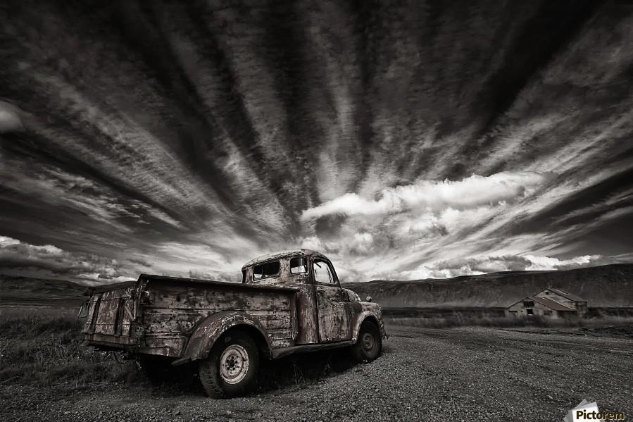Old Truck (mono)  Print