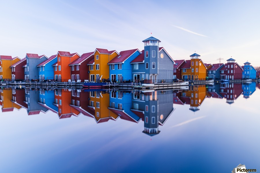 Colored homes  Print