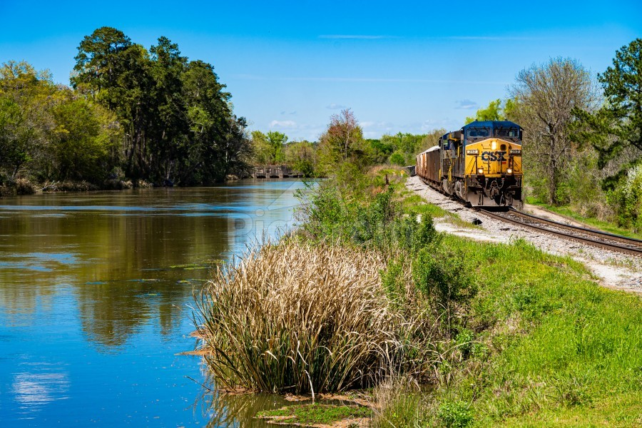 CSX Train along the Augusta Canal GA 02909  Print
