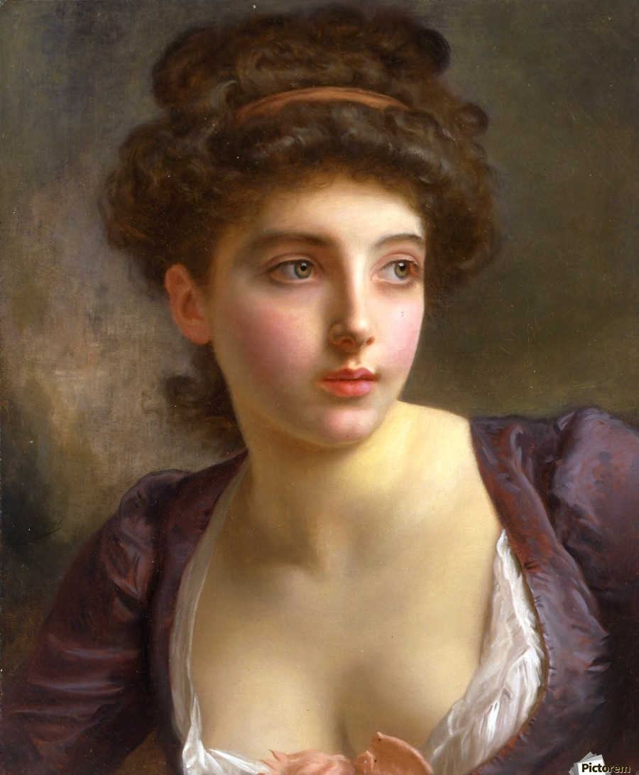 A court beauty - Gustave Jean Jacquet Canvas
