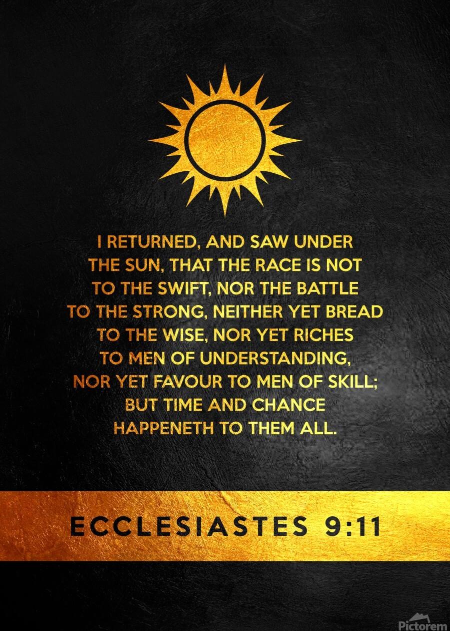 Ecclesiastes 9:11 Bible Verse Wall Art  Print