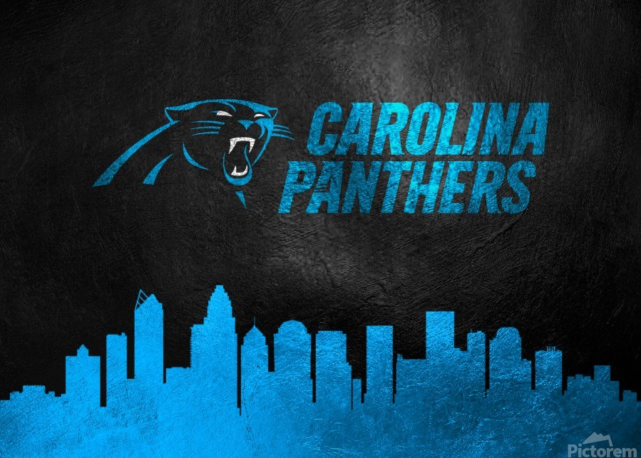 Carolina Panthers Skyline  Print