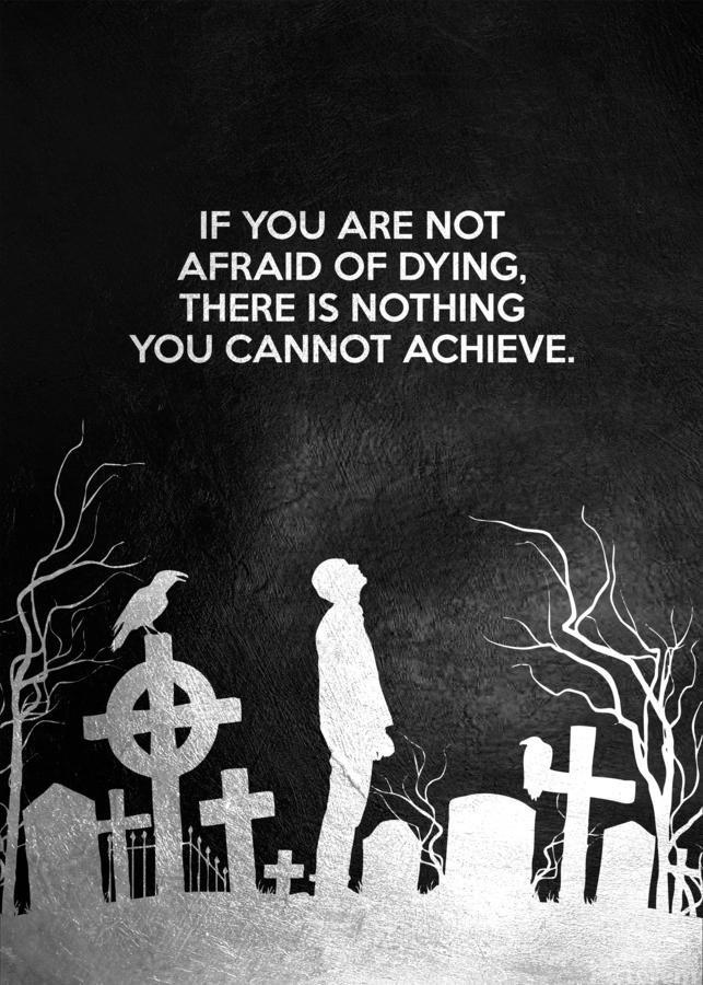 Laugh at Death Motivational Wall Art  Print