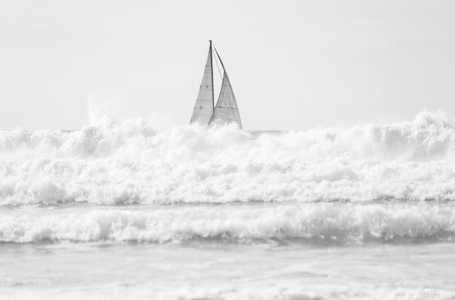 SAILING IN THE SURF  Print