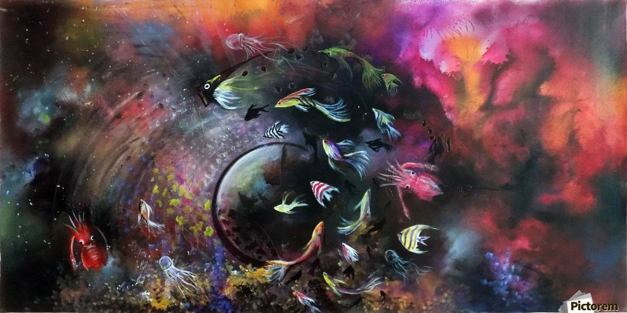 THE DANCE IN OCEAN THE CIRCLE OF LIFE  Print