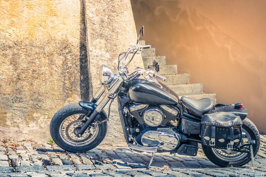 Chopper cruiser motorbike  Print