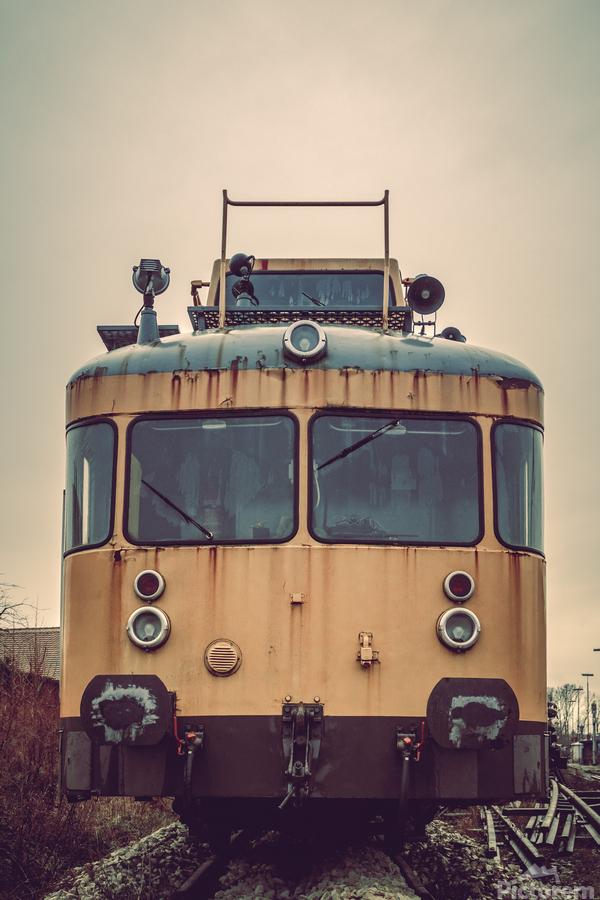 Junkyard train  Print