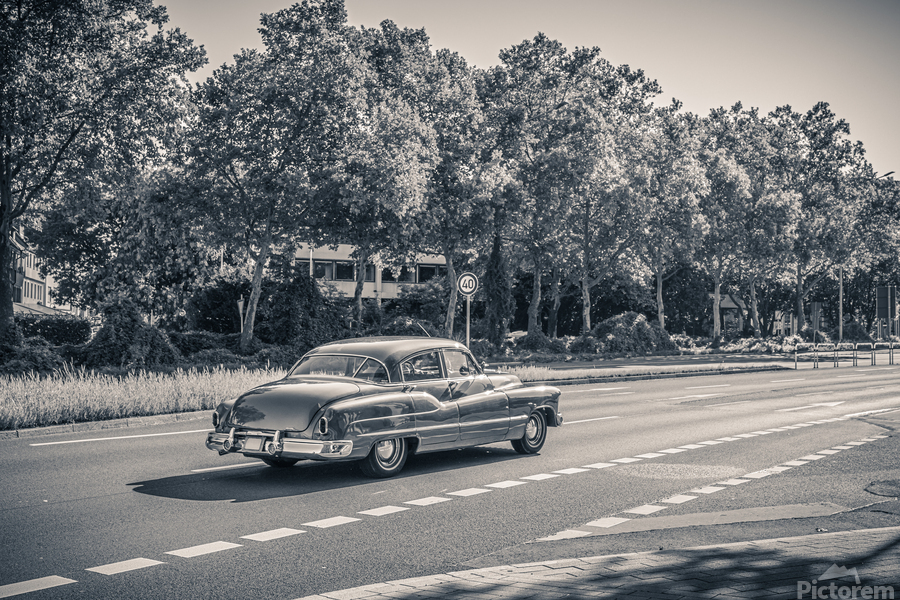 American oldtimer car from the 1950s  Print