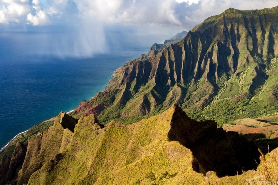 The Cliff Sides of Kauai  Print