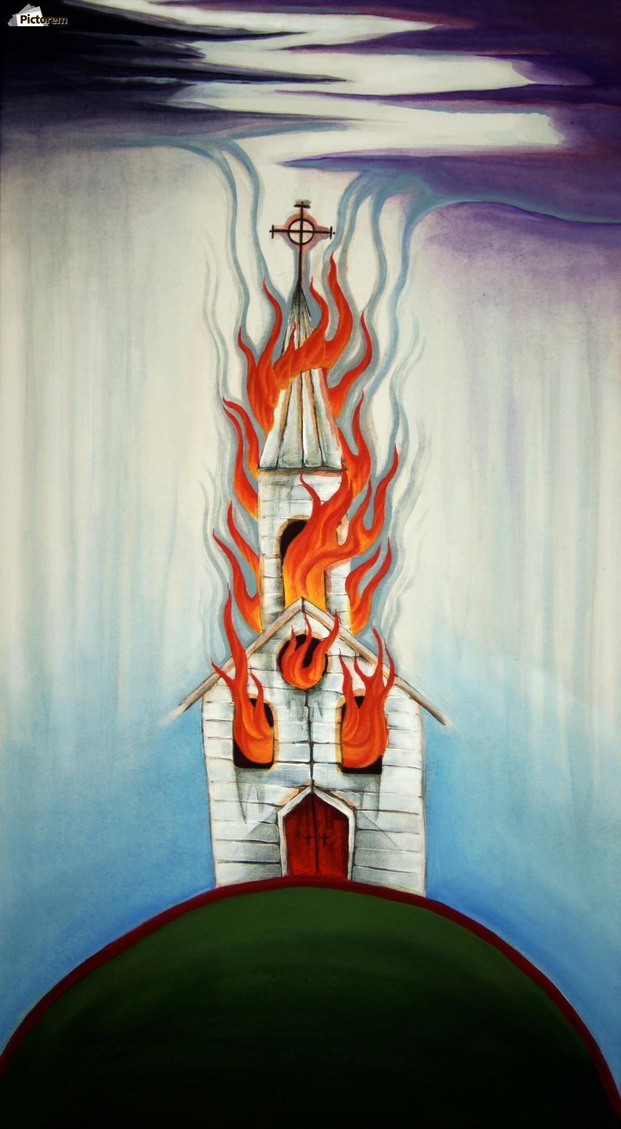 Burning Church  Print