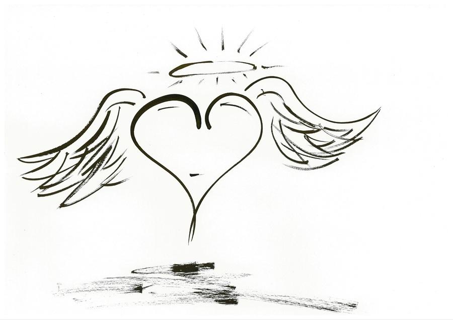 2020 heart angel  Print