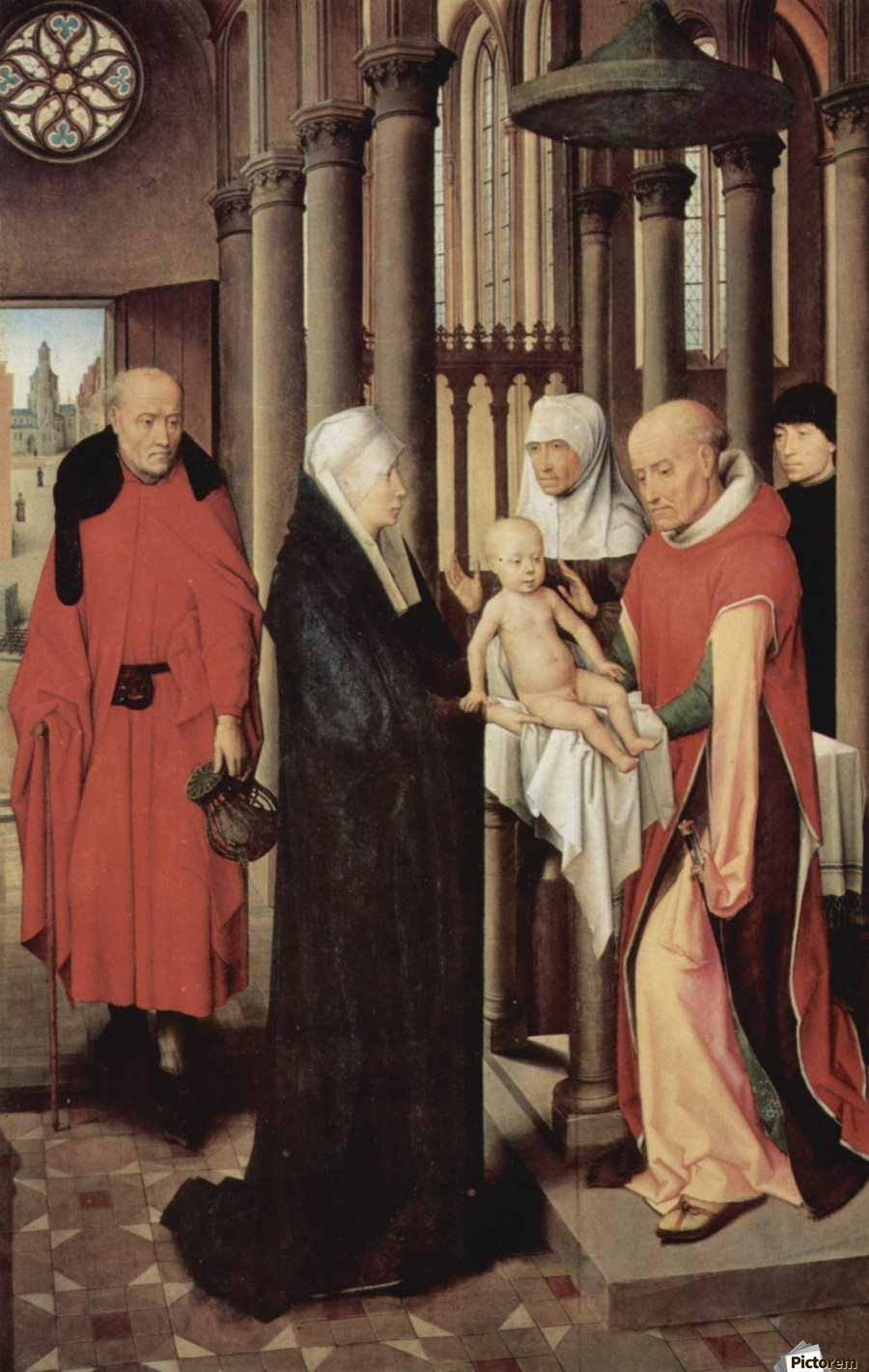 Adoration of the Magi Right wing of triptych, depicting the Presentation in the Temple  Print