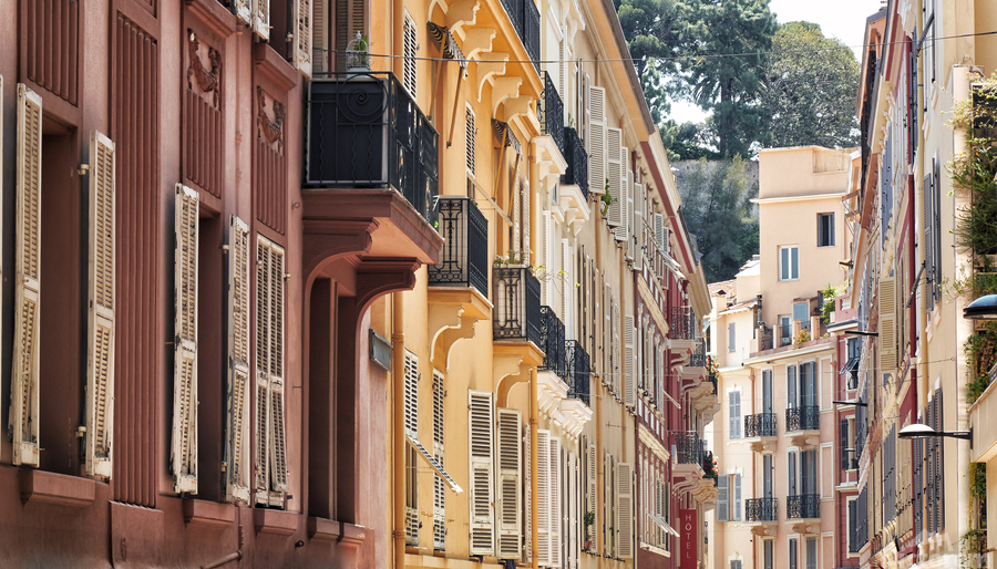 Monaco Street  Print
