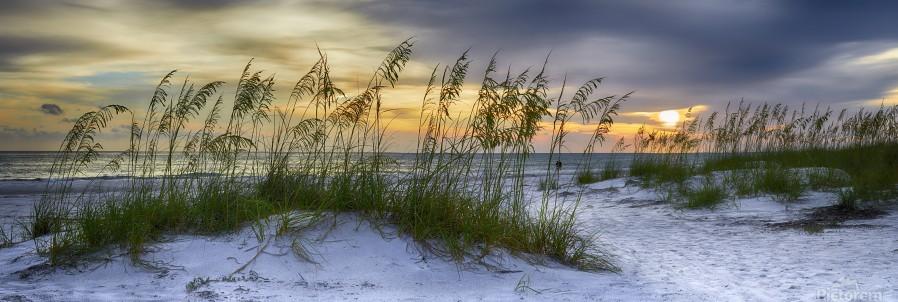 Sunset over Holmes Beach  Print