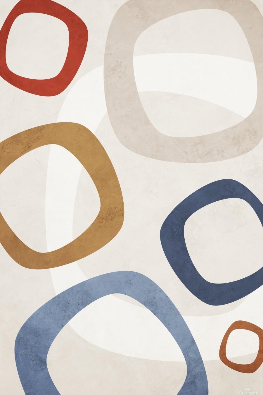 Shapes 08 - Abstract Geometric Art Print  Print