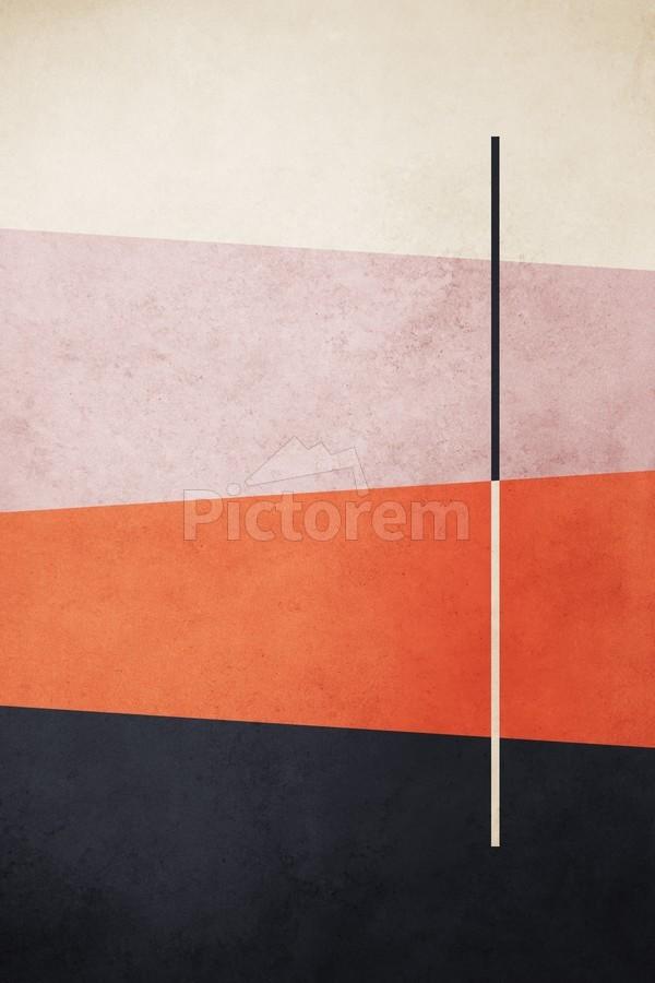 Textured Shapes 06 - Abstract Geometric Art Print  Print