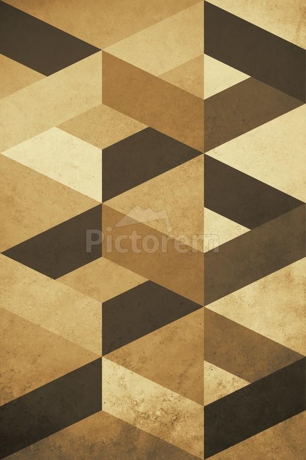 Textured Shapes 07 - Abstract Geometric Art Print  Print