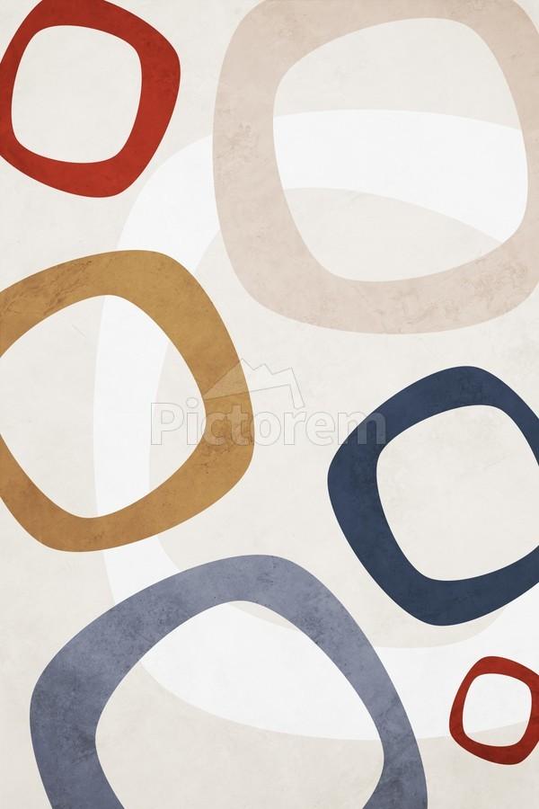 Textured Shapes 08 - Abstract Geometric Art Print  Print