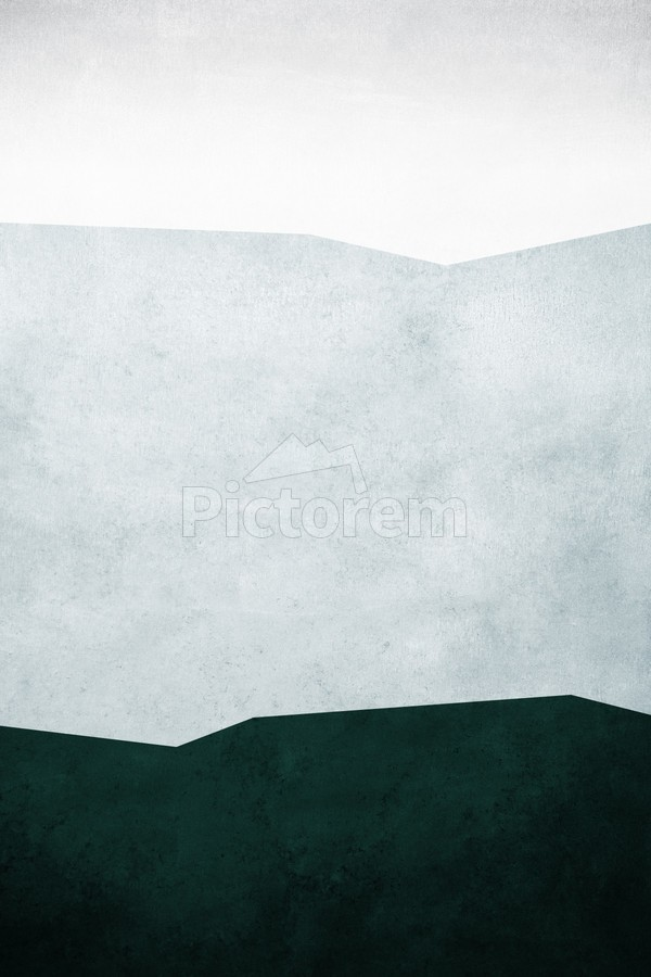 Textured Shapes 12 - Abstract Geometric Art Print  Print