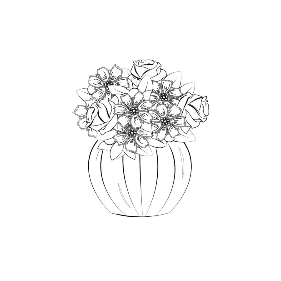 Flower bouquet   Print