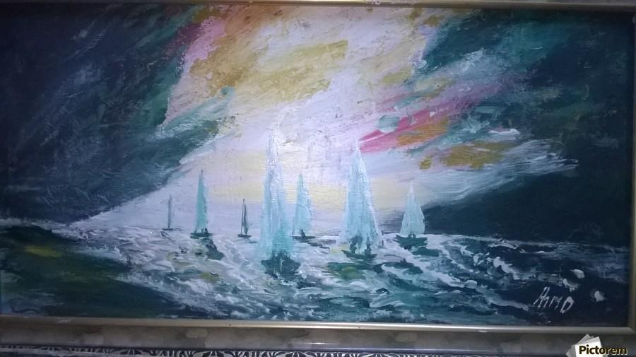 sail before storm  Print