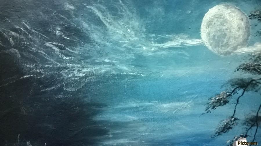 moon aura  Print