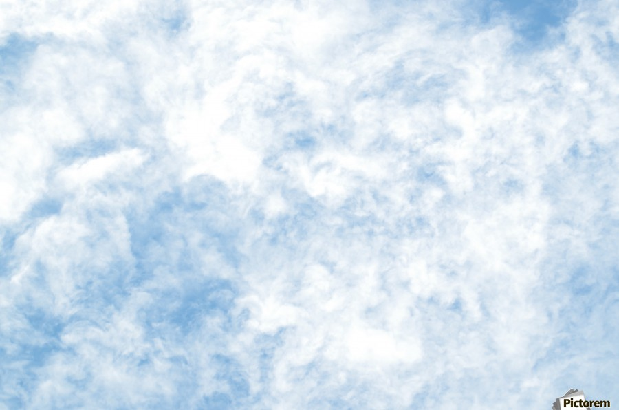 Wispy White Cloud.  Print