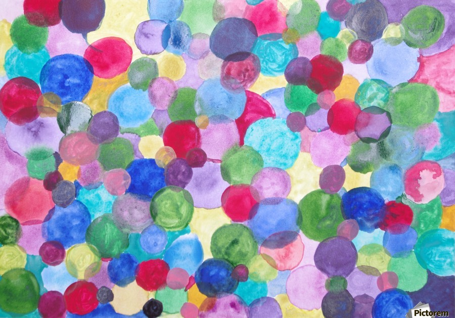 Colored Balls.  Print