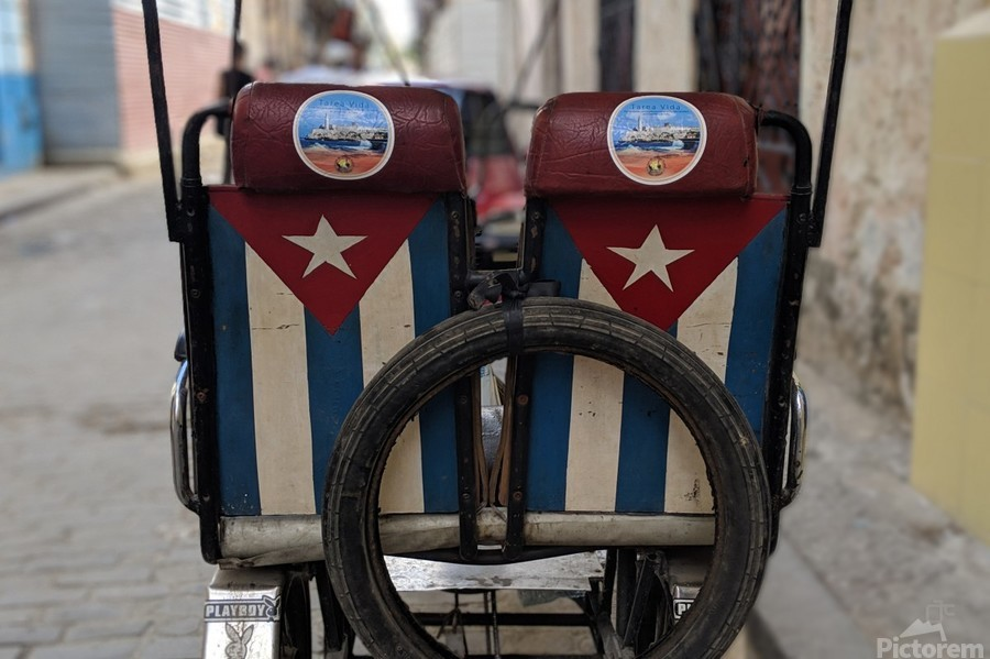 Cuban Bicycle Taxi  Print